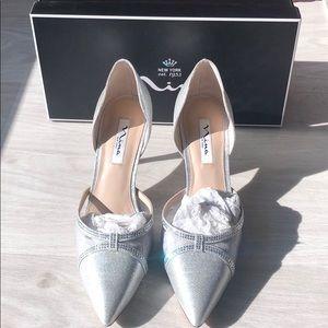 """Nina Blakely silver 2.5"""" heels"""
